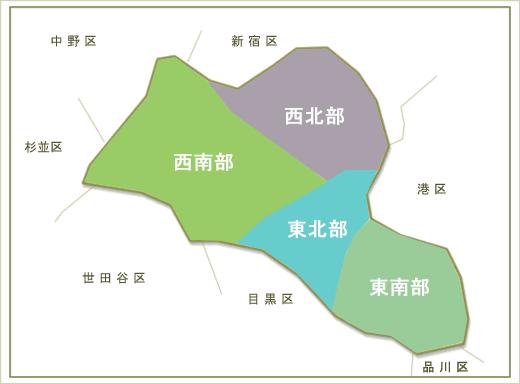渋谷区の地図